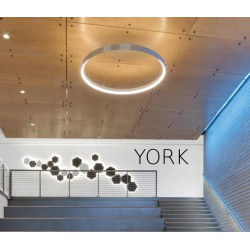 LED Linear Lamp With By ACA In Different Sizes Model York - Circular and S shape