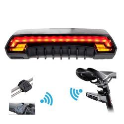 Ασύρματο Οπίσθιο Φανάρι Ποδηλάτου LED Stop - Αριστερό Φλάς - Δεξί Φλάς με Χειριστήριο Τιμονιού Επαναφορτιζόμενο USB