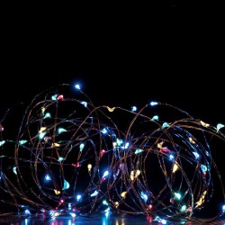 Fairy Lights 400 LED Power Lights, Silver Copper Cable And 8 Programs, RGBY 20x2m 6W IP44 - ACA Christmas