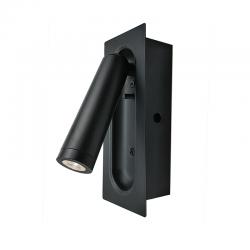 LED Απλίκα Σποτ Μεταλλική Χωνευτή Σε Λευκό ή Μαύρο Χρώμα 3W 190lm AIAS - ACA DECOR