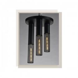 Φωτιστικό Οροφής Μαύρο Μεταλλικό Τρίφωτο 3x E27 ALCATRAZ - ACA Decor