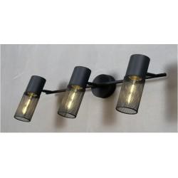Σποτ Επίτοιχο - Οροφής Μαύρο Μεταλλικό Τρίφωτο 3x E27 ALCATRAZ - ACA Decor