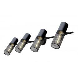 Σποτ Επίτοιχο - Οροφής Μαύρο Μεταλλικό Τετράφωτο 4x E27 ALCATRAZ - ACA Decor