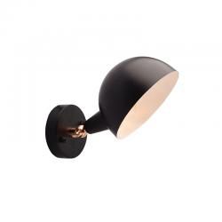 Vintage Απλίκα Μεταλλική Σε Μαύρο Χρώμα Με Κινούμενη Κεφαλή 1x E14 Clotho - ACA DECOR