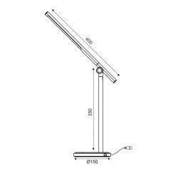 LED Φωτιστικό Γραφείου Ασημί Μεταλλικό Με Touch Dimmer 7W CCT 3000K-6500K USB CHARGER - DEGAS - ACA DECOR