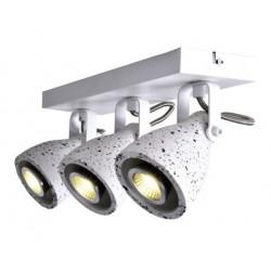 Σποτ Επίτοιχο - Οροφής Τρίφωτο Λευκό Terazzo 3XGU10 DINO - ACA Decor