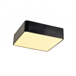 LED Πλαφονιέρα Μεταλλική Τετράγωνη Σε Λευκό Ή Μαύρο Χρώμα 48x48cm 40W Osram Chip EMERY - ACA Decor