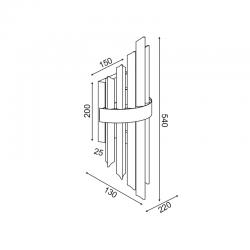 Επίτοιχο Φωτιστικό Με Κρύσταλλα Δίφωτο 2X E14 EMPIRE - ACA Decor