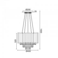Κρεμαστό Φωτιστικό Οροφής Με Κρύσταλλα Πεντάφωτο 5x E14 EMPIRE - ACA Decor