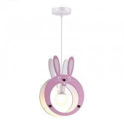 Παιδικό Φωτιστικό Οροφής Ροζ Κουνελάκι 1x E27 FARMA - Aca Decor