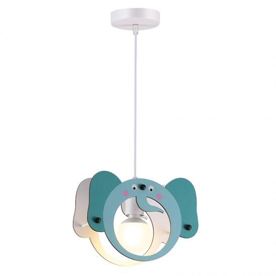 Παιδικό Φωτιστικό Οροφής Μπλε Ελέφαντας 1x E27 FARMA - Aca Decor
