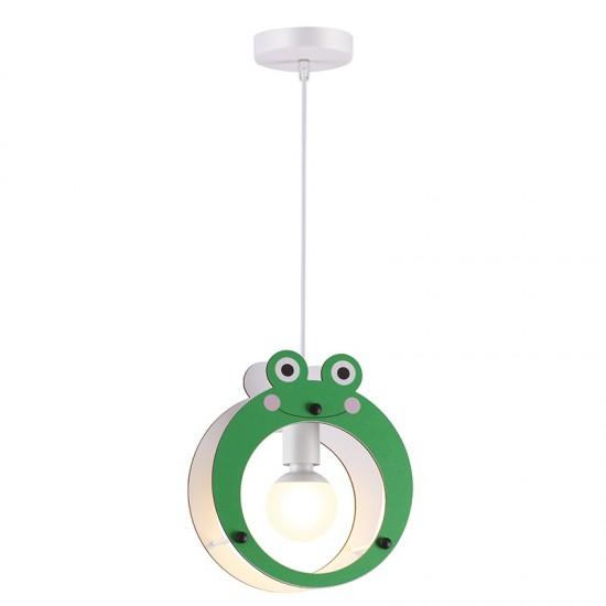Παιδικό Φωτιστικό Οροφής Πράσινο Βατραχάκι 1x E27 FARMA - Aca Decor