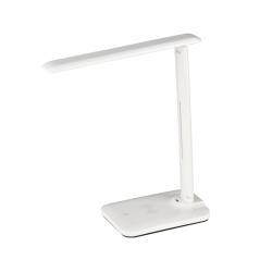 LED Φωτιστικό Γραφείου Λευκό 5W 3000K-4000K-6500K DIMMABLE Και Wireless Φόρτιση Smartphone - FUTUR - ACA DECOR