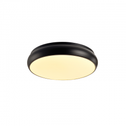 LED Πλαφονιέρα Μεταλλική Σε Λευκό Ή Μαύρο Χρώμα Ø40cm 32W Osram Chip KALLISTA - ACA Decor