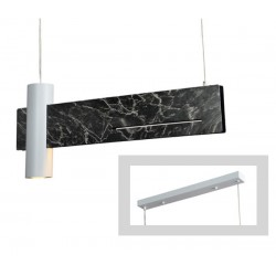 Κρεμαστό Φωτιστικό Σε Χρώμα Μαύρο Μάρμαρο Και Λευκό Σποτ LED 12W 960lm 1XGU10 LINEA - ACA Decor