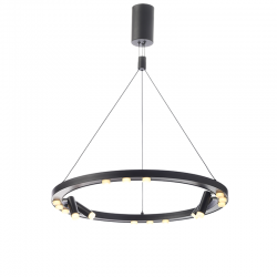 LED Aluminum Pendant Light In Black Color Ø65 48W MAGNETO - ACA Decor