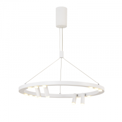 LED Aluminum Pendant Light In White Color Ø65 48W MAGNETO - ACA Decor