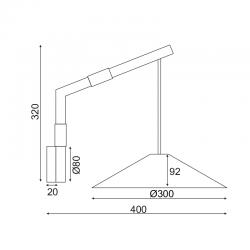 Επίτοιχο Φωτιστικό Από Φυσικό Ξύλο Και Λευκό Σώμα 1xGX53 NAIROBI - ACA Decor