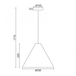 Κρεμαστό Φωτιστικό Από Ξύλο Καρυδιά Ø33cm 1x E27 NAIROBI - ACA Decor