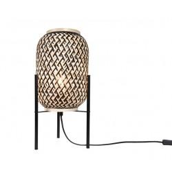 Επιτραπέζιο Φωτιστικό Από Μέταλλο Και Μπαμπού Ø20cm 1xE27 SAHARA - ACA Decor