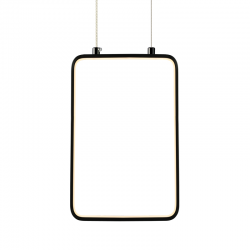 LED Κρεμαστό Φωτιστικό Ορθογώνιο Μεταλλικό Σε Λευκό Ή Μαύρο Χρώμα 11W 30x18cm SYMETRIA - ACA Decor