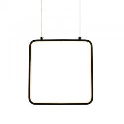 LED Κρεμαστό Φωτιστικό Τετράγωνο Μεταλλικό Σε Λευκό Ή Μαύρο Χρώμα 9W 22x22cm SYMETRIA - ACA Decor