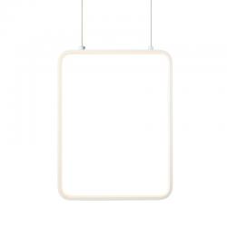 LED Κρεμαστό Φωτιστικό Ορθογώνιο Μεταλλικό Σε Λευκό Ή Μαύρο Χρώμα 15W 36,2x26,2cm SYMETRIA - ACA Decor