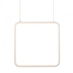 LED Κρεμαστό Φωτιστικό Τετράγωνο Μεταλλικό Σε Λευκό Ή Μαύρο Χρώμα 14W 30x30cm SYMETRIA - ACA Decor