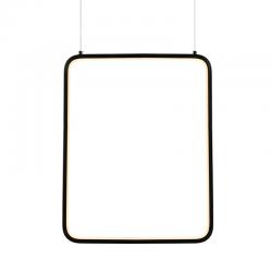 LED Κρεμαστό Φωτιστικό Ορθογώνιο Μεταλλικό Σε Λευκό Ή Μαύρο Χρώμα 19W 46,2x36,2cm SYMETRIA - ACA Decor