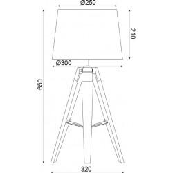 Επιτραπέζιο Φωτιστικό Ξύλινο Σε Τρεις Αποχρώσεις 1x E27 - ACA DECOR