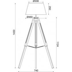 Φωτιστικό Δαπέδου Ξύλινο Σε Τρεις Αποχρώσεις 1x E27 - ACA DECOR