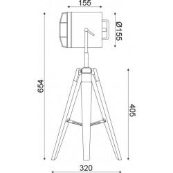 Επιτραπέζιο Φωτιστικό Ξύλινο Και Μεταλλικό Σε Χρώμιο 1x E27 - ACA DECOR