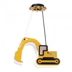 Παιδικό Φωτιστικό Οροφής Κίτρινος Εκσκαφέας 1xE14 VROOM - Aca Decor