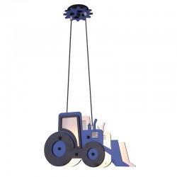 Παιδικό Φωτιστικό Οροφής Δίφωτο Μπλε Μπουλντόζα 2xE14 VROOM - Aca Decor