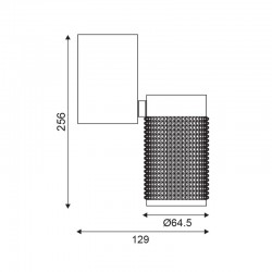 Σποτ Φωτιστικό Οροφής Αλουμινίου Μονόφωτο Μαύρο 1Χ GU10  - ACA Decor