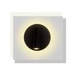 LED Απλίκα Μεταλλική Σε Λευκό ή Μαύρο Χρώμα 3W+4W 280lm ZEUS - ACA DECOR