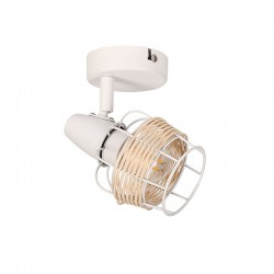Ceiling - Wall Spot Light White From Rattan 1xE14 ZORBAS - ACA Decor