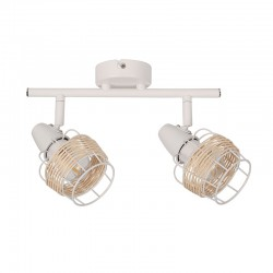 Ceiling - Wall Spot Light White From Rattan 2xE14 ZORBAS - ACA Decor