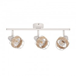 Ceiling - Wall Spot Light White From Rattan 3xE14 ZORBAS - ACA Decor