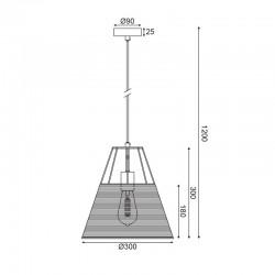 Κρεμαστό Φωτιστικό Μονόφωτο Από Ραττάν Ø30cm 1xE27 ZORBAS - ACA Decor