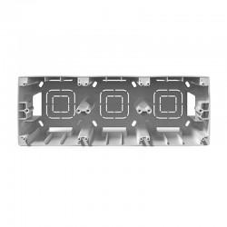 PRIME 3 GANG FRAME IP20 WHITE - Aca Elec