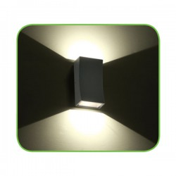 CREE High Light LED Απλίκα Εξωτερικού Χώρου Σε Σκούρο Γκρι Up-Down 6W IP65 FER - ACA