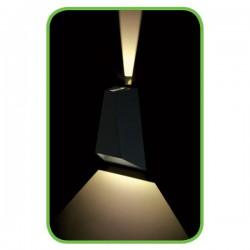 CREE High Power LED Απλίκα Εξωτερικού Χώρου Σε Σκούρο Γκρι - 6W IP65 GEO - ACA