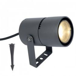 CREE LED Φωτιστικό Κήπου Σε Σκούρο Γκρι Με Μεταβαλλόμενες Μοίρες Φωτισμού 15-50° 9W IP65 LOTOS - ACA