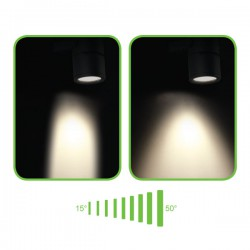 CREE LED Garden Light In Dark Gray With Variable Lighting Degrees 15-50° 9W IP65 LOTOS - ACA