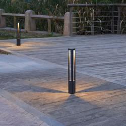 CREE LED High Power Φωτιστικό Εξωτερικού Χώρου Κολωνάκι Σκούρο Γκρι 65cm 8W IP65 MEDE - ACA