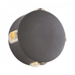 CREE High Power LED Απλίκα Εξωτερικού Χώρου Στρογγυλή Με 4 Δέσμες Φωτός - 5W IP54 MENFI- ACA
