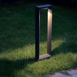 CREE LED Φωτιστικό Εξωτερικού Χώρου Κολωνάκι Σκούρο Γκρι 49.5cm 8W IP54 RIPI - ACA