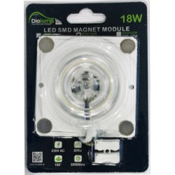 LED SMD MAGNET MODULE Πλακέτα 230V - 18W 160° - Diolamp