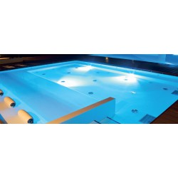 LED Πλαστικό Φωτιστικό Πισίνας 25W 90° IP68 12V AC/DC ALBA - ACA